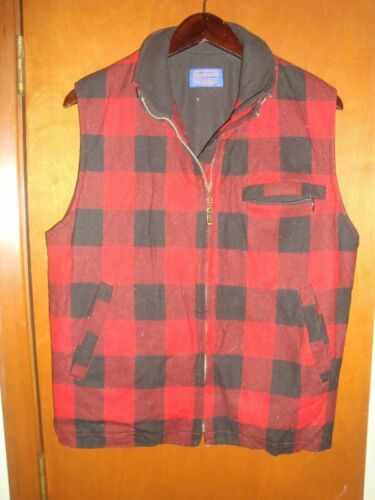 pendleton wool vest fuller zipper size small