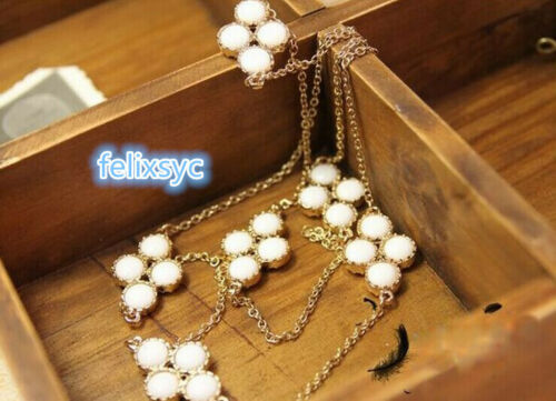 Clave de Cristal de Plata Collar De Perlas Colgante Cadena de varias capas Regalos Para Mujeres Joyero