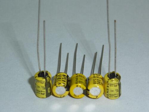 50pcs 47uF 10V 5X7mm Japan ELNA 10V47uF Audio Electrolytic Capacitor