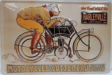 Harleyville Moto Bicicleta Garaje Vintage Divertido Medio 3D Metal Con relieve