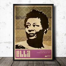 Ella Fitzgerald Art Poster Music Jazz Billie Holiday Etta James Miles Davis