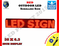 Red 38x63 Led Programmable Scrolling Sign Outdoor Water Proof