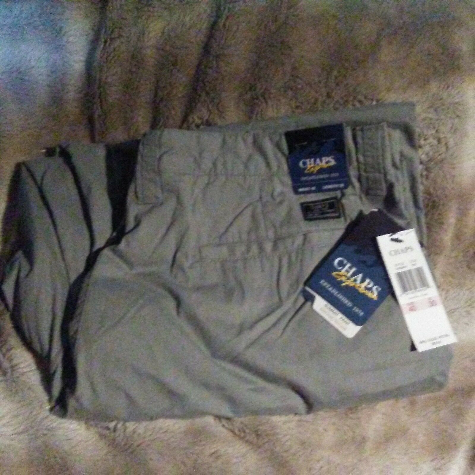 Chaps Explorer Summit Pants Cotton Nylon 40x30 New With Tags Light Grey