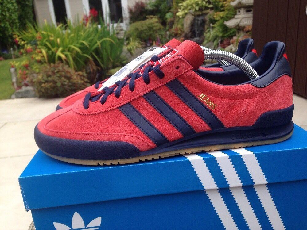 Adidas Jeans Taglia 8.5 rosso blu & & & GUM Deadstock 80s CALCIO casuals e2af52