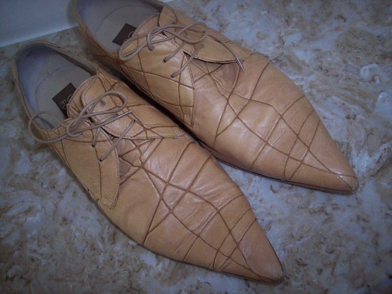 Amazing GIORGIO FARNASIERO Leather shoes 8 Made in