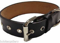 Custom Handmade Black Leather Dog Collar 1 Wide Can Personalize