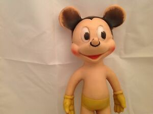 "Vintage Sun Rubber Co. Mickey Mouse Disney Walt Disney Productions 10.5"" Tall"