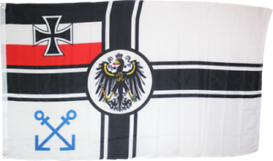 1871 GERMAN IMPERIAL NAVY PILOT BANNER 3X5 DEUTSCHLAND IRON CROSS FLAG HISTORIC