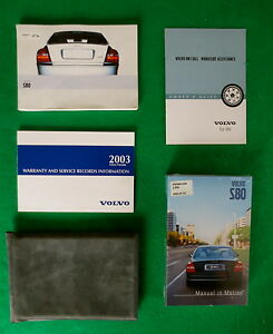 2003-03-Volvo-S80-Owners-Manual-Very-Good-Condition-G28A