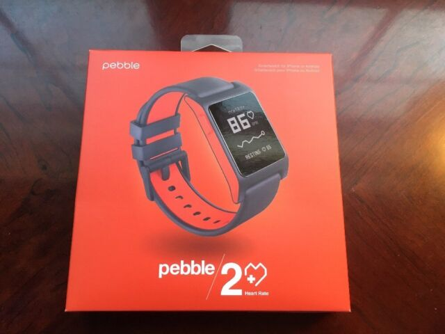 Pebble - 2 + Heart Rate Smartwatch Polycarbonate - Black/Red