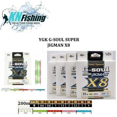 Yotsuami YGK G-Soul Super Jigman X8 14lb #0.6-300m PE 8 Braid Multicolor Line