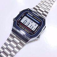 Casio A168 A178WA A159WGA-1/5/9A Digital watch Silver/Gold Tone Stainless Steel