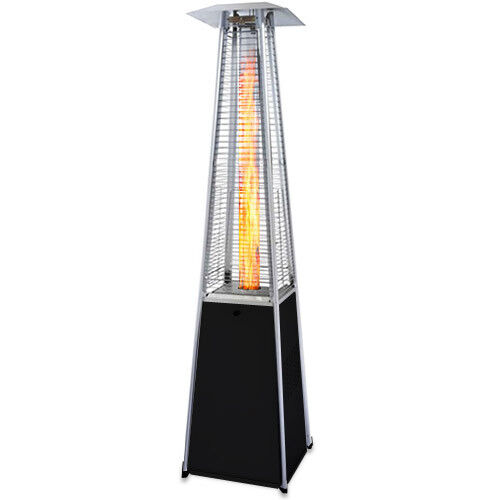 Garden Radiance Grp4000bk Dancing Flames Pyramid Outdoor Patio Heater With Black
