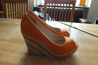 Damenschuhe Absatzschuhe Gr. 39 bunte Schuhe Absatz ca. 10 cm Pumps