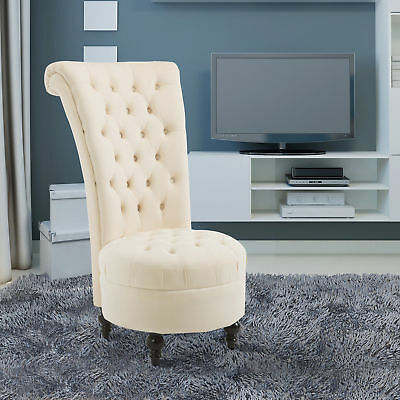 """45"""" Tufted High Back Velvet Accent Chair Living Room Soft Padded Couch Lounge"""