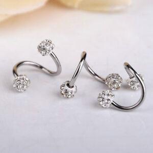 Stainless-Steel-Crystal-Twist-Ear-Cartilage-Helix-Body-Piercing-Earring-Stud-New