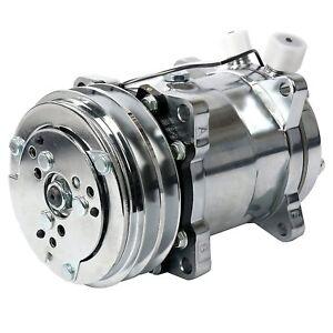 Details about A/C Air Conditioning Compressor 12V/V-Belt Pulley Sanden 508  Style Chrome