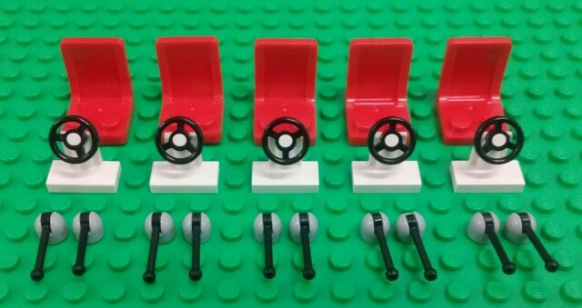 *NEW* Lego Chairs Red Seats White Steering Wheels Levers Cars Space Ships
