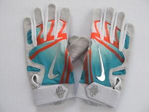 ba1d2aa4f58dc Nike Huarache Elite Batting Gloves Turbo Green Total Orange Chrome ...