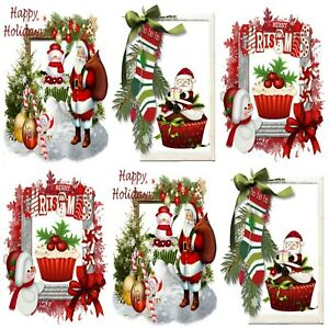Christmas Toppers For Card Making.Details About Santa S Cupcake Christmas Embellishments 12 Card Making Toppers Card Toppers