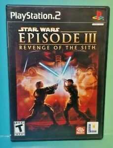 Star-Wars-III-Sith-PS2-Playstation-2-COMPLETE-Game-1-Owner-FLAWLESS-Mint-Disc