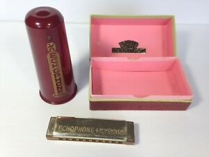 Vintage-Hohner-Echophone-Harmonica-Made-In-Germany-collectible