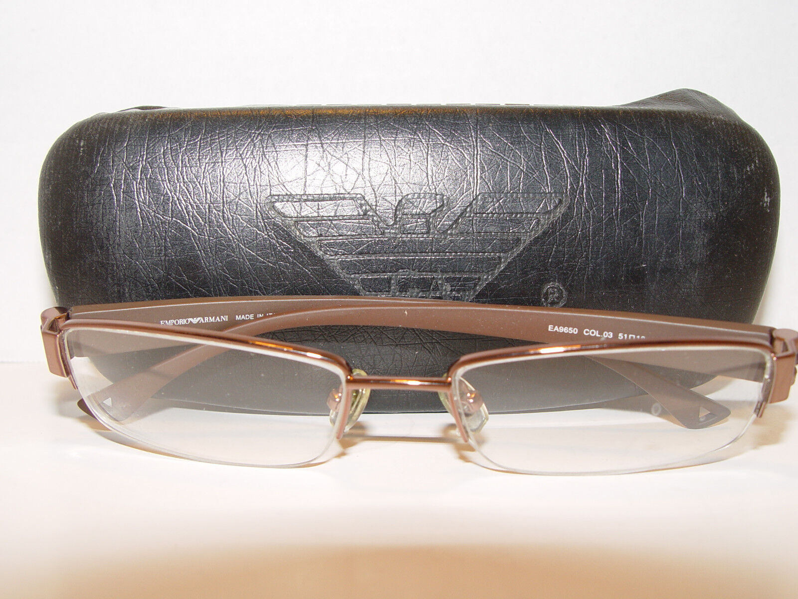 Emporio Armani Eyeglasses EA  9650 EA9650 COL.03 Brown 51mm 18mm Made In   we take customers as our god