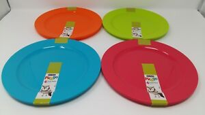 EDGO Pic/&go 4 Pack Plastic Plates Pastel Pink Party Event Picnic BBQ Buffet