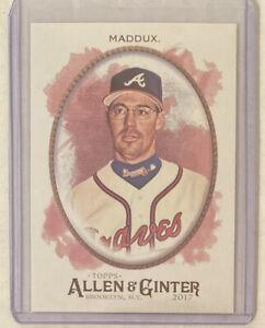 Greg-Maddux-2017-Allen-amp-Ginter-Glossy-039-ed-1-1-Atlanta-Braves-Cubs-HOF-er