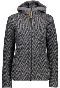 tolle Passform ästhetisches Aussehen geschickte Herstellung Details zu CMP Damen Jacke 3M37376 905 grau/melange / Fleecejacke Damen /  Strickfleecejacke