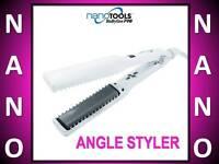 Babyliss Pro Nano Tools 450° Angle Styler Iron 1 1/4 Hybrid Kiyoseki Comb Plate