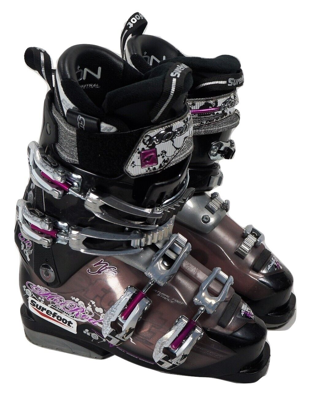 WOMEN'S SKI BOOTS 23.5 NORDICA HOT ROD 8.0 W  US WOMEN'S 6 TO 6.5 SureFoot X2  10 days return