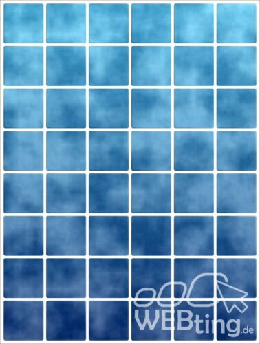 15x20cm Blau Fliesenaufkleber Fliesen Aufkleber Fliesenimitat Mosaik M6