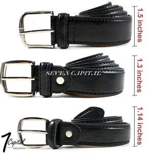 Men-039-s-Dress-Causal-Strap-Jeans-Buckle-Genuine-Leather-Belts-Black-M-L-XL-32-42