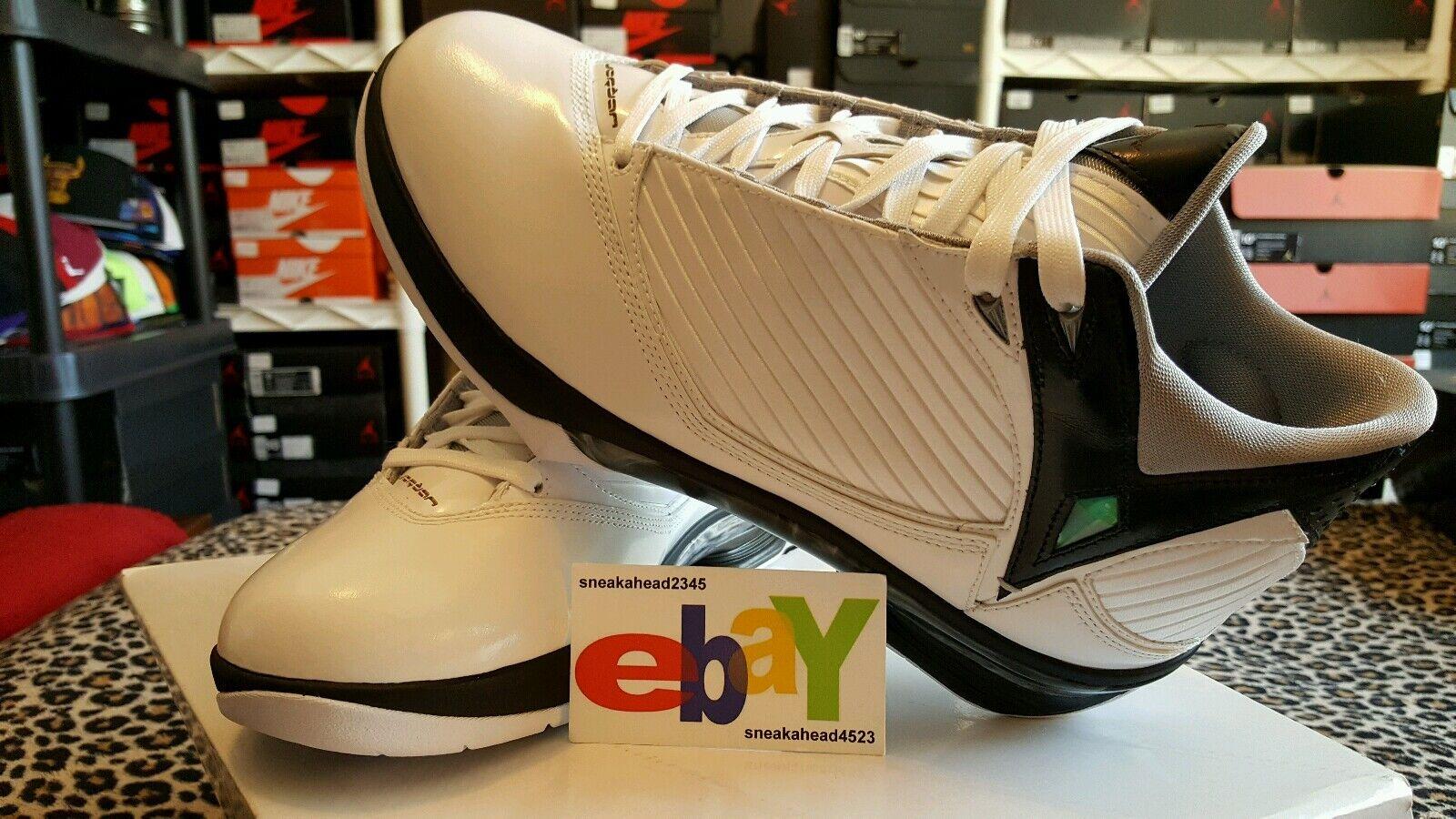 Nike Air Jordan 2009 2K9 S23 12 04 2008 WHITE METALLIC SILVER-BLACK 343084 161