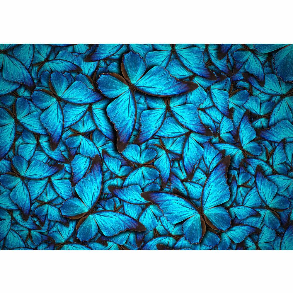 Papier Peint Photo Papillons Animaux Naturel blue Liwwing Numéro 192