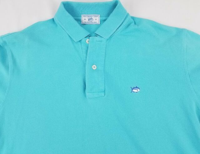 cfd48805d Southern Tide Mens Sky Blue Short Sleeve Skipjack Polo Shirt Medium M 38