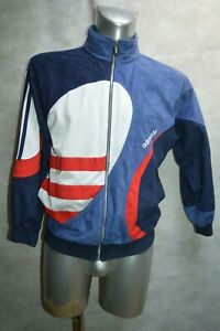 VESTE-SURVETEMENT-ADIDAS-TAILLE-D-4-F-166-JACKET-CHAQUETA-GIACCA-VINTAGE-FRANCE