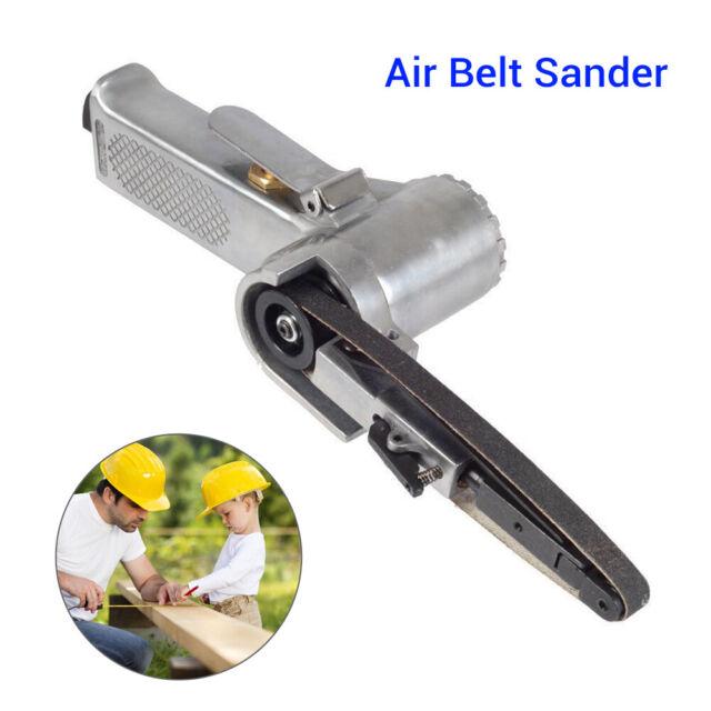 "3/8"" Air Belt Sander Pneumatic Machine Polisher Grinding Sanding Tool 16000RPM"
