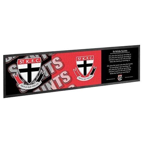 Team AFL Footy Rubber Bar Runner Mat 25cm x 90cm