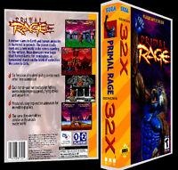 Primal Rage - 32x Reproduction Art Case/box No Game.