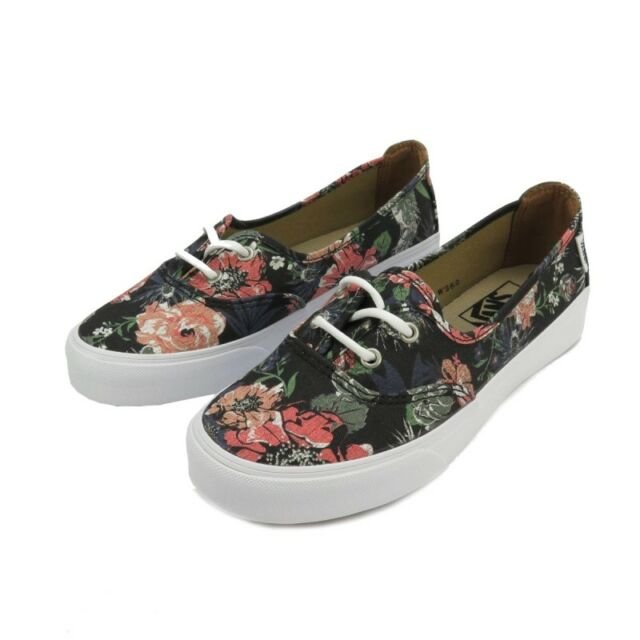 6d830fae5a325a Vans Off the Wall Womens Solana Desert Floral Black Flats Shoes Size 5 NWT