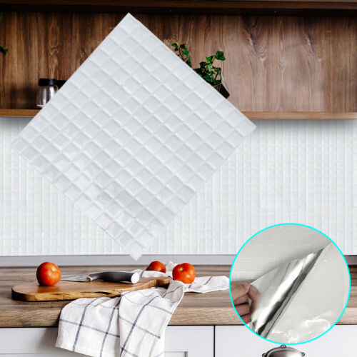 Kitchen Bathroom Peel And Stick 3D Self Adhesive Mosaic Stair Wall Tile Sticker