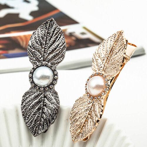 Hochzeit Braut Ornament Blattform Haarspange Haarspange Pearl Haarnadeln