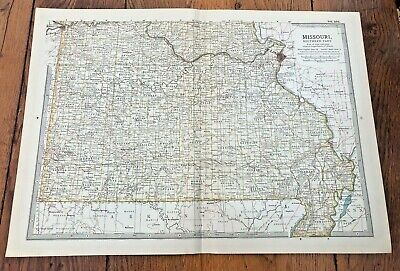 1903 large colour fold out map titled \