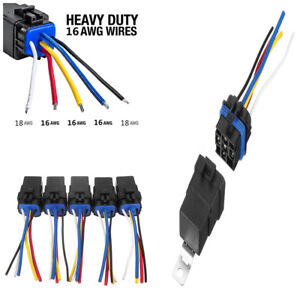 5pcs 12v 5 pin bosch style spdt waterproof automotive car relays rh ebay com Wiring Harness Parts Wiring Harness Parts