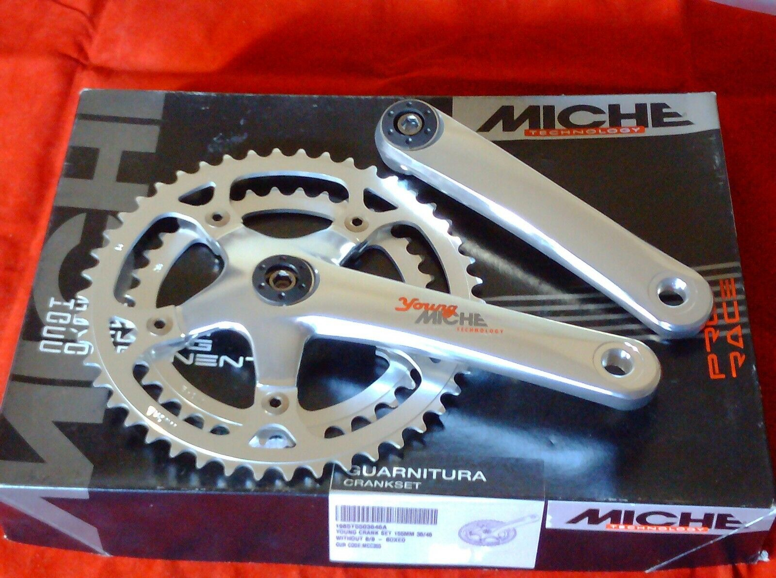 MICHE PRO RACE YOUNG  46 36  DOUBLE   CHAINSET, 155mm CRANKS
