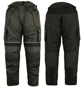 Mens-Motorcycle-Pants-Trousers-Cargo-Cordura-100-Waterproof-Motorbikes-Gloves