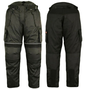 Mens-Trousers-Camo-Style-Cordura-100-Waterproof-Motorcycle-Motorbikes-Pants