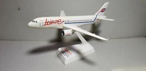 FLIGHT-MINATURE-LEISURE-INTL-AIRWAYS-A320-1-200-SCALE-PLASTIC-SNAPFIT-MODEL